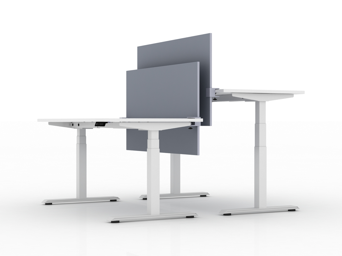 Amq Height Adjustable Benching System Used Office